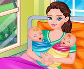 Mamma Geboorte Tweeling